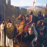 """Балдуин дьо Буйон влиза в Едеса през февруари 1098 г."", худ. Йозеф Робер Флюри, 1840 г."